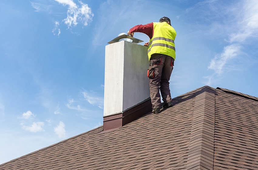 Installing chimney fireplace insert