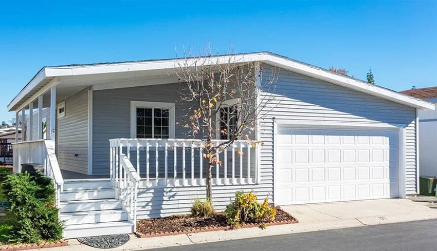 Manufactured home with garage