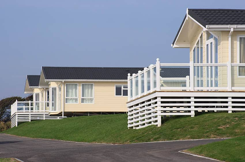Manufactured homes in row