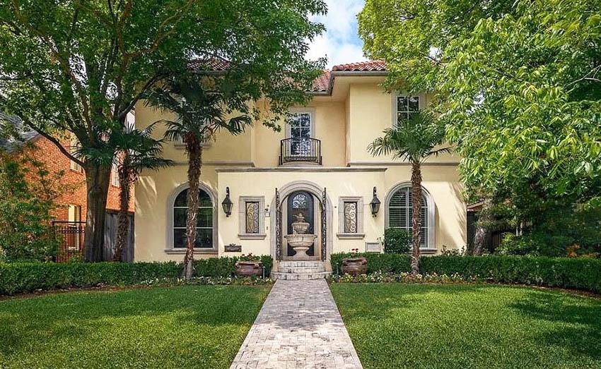 Mediterranean style stucco house