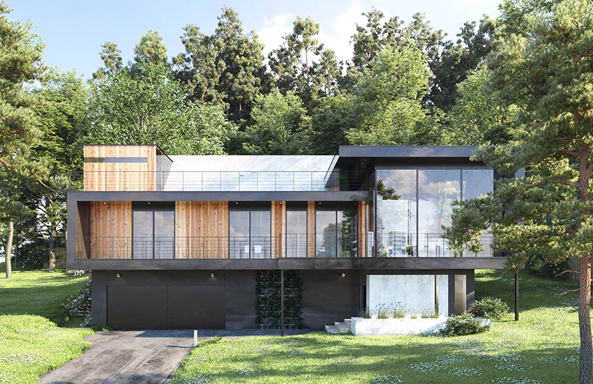 Modern manufactured house