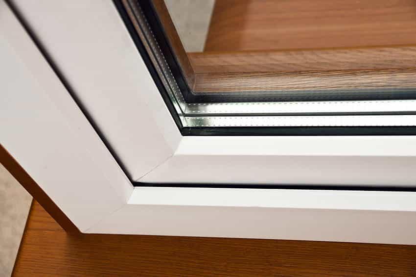 Oak laminated fiberglass window