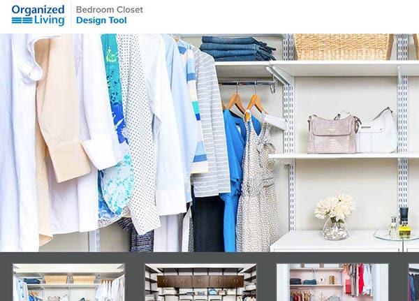 Organized living closet design tool
