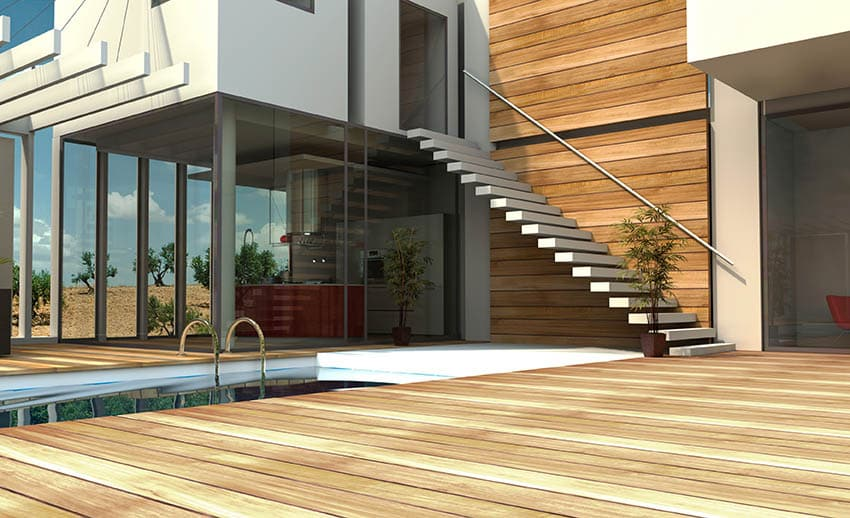 Outdoor floating stairs
