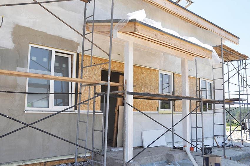 Painting a stucco house
