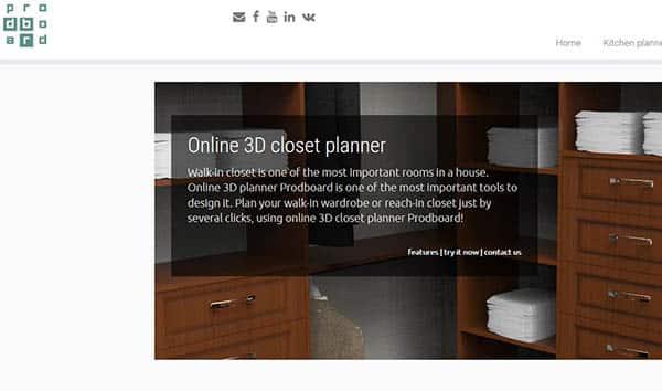 Proboard 3d closet planner