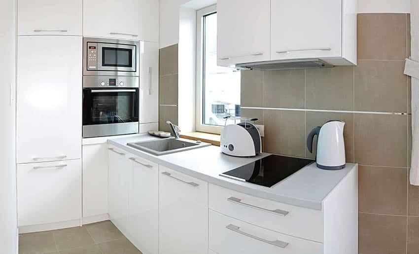Small modern kitchen with dishwasher