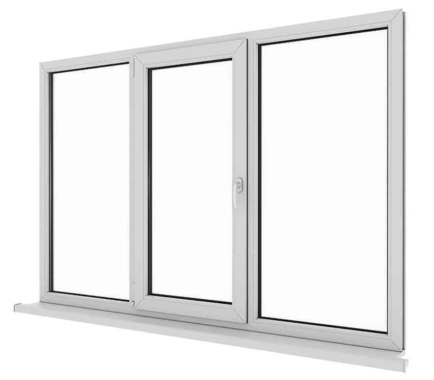 White vinyl windows