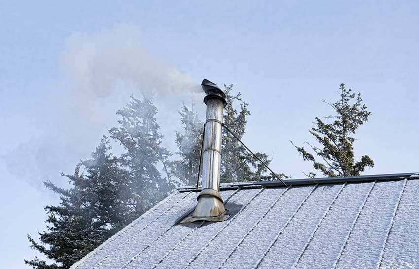 Wood burning chimney