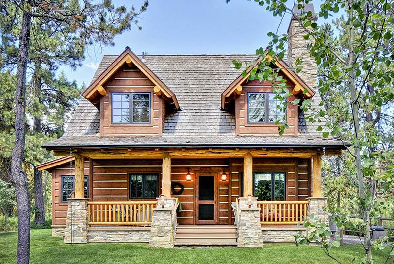 2 bedroom log home plan design