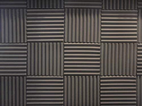 Acoustic panels to soundproof a door