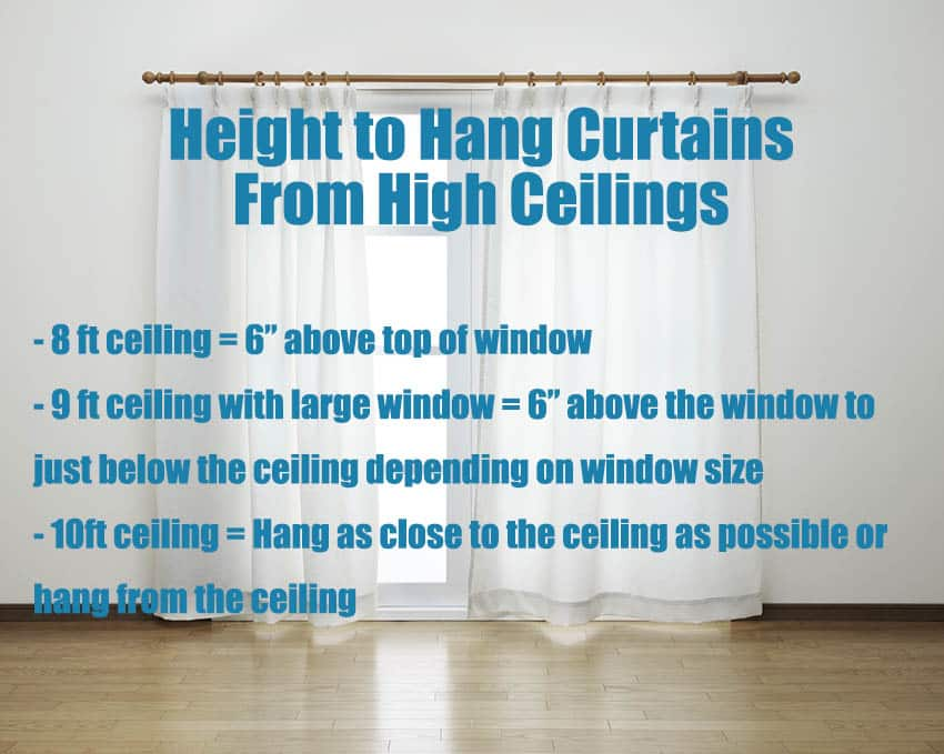 How high to hang curtains