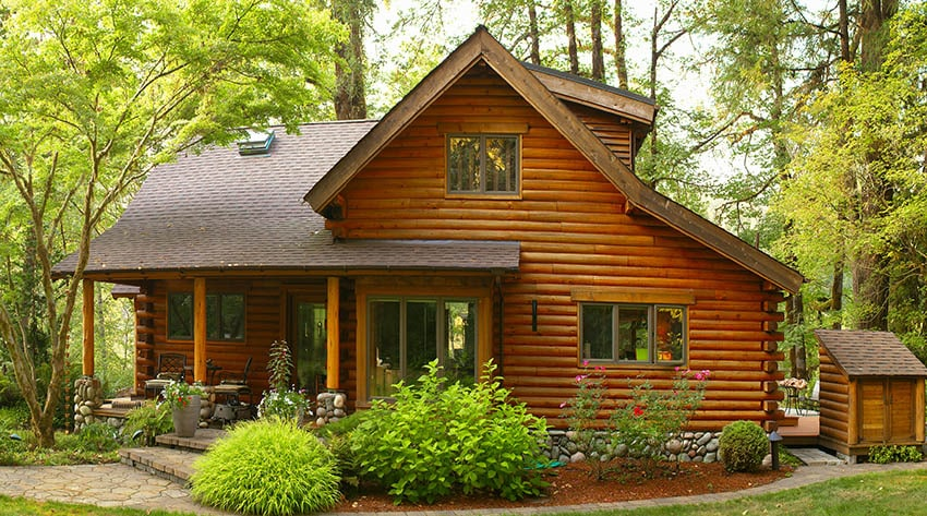 Log cabin with second story