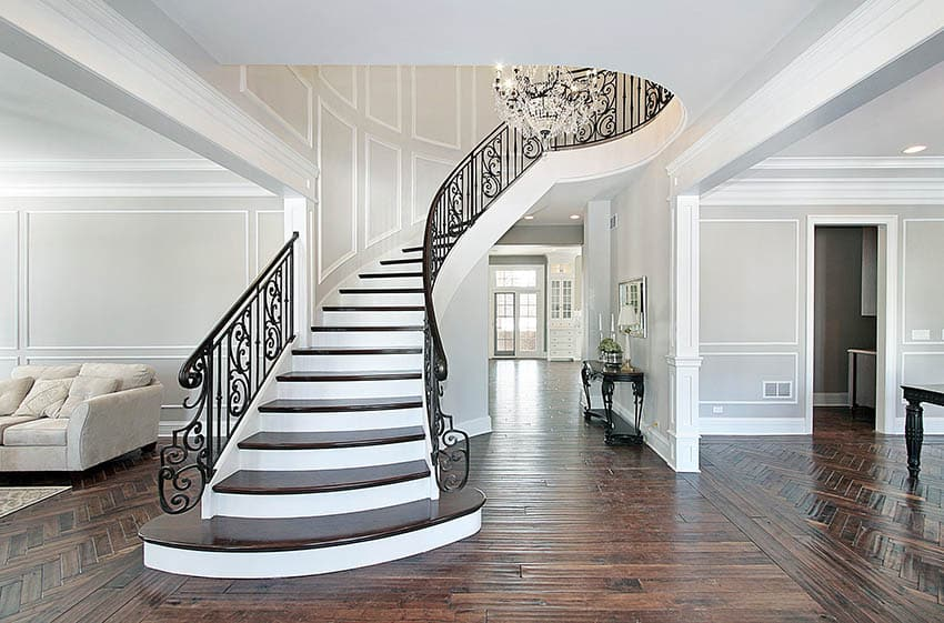 Luxury fancy staircase house entryway