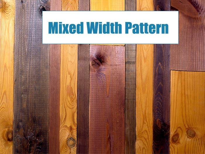 Mixed width wood floor