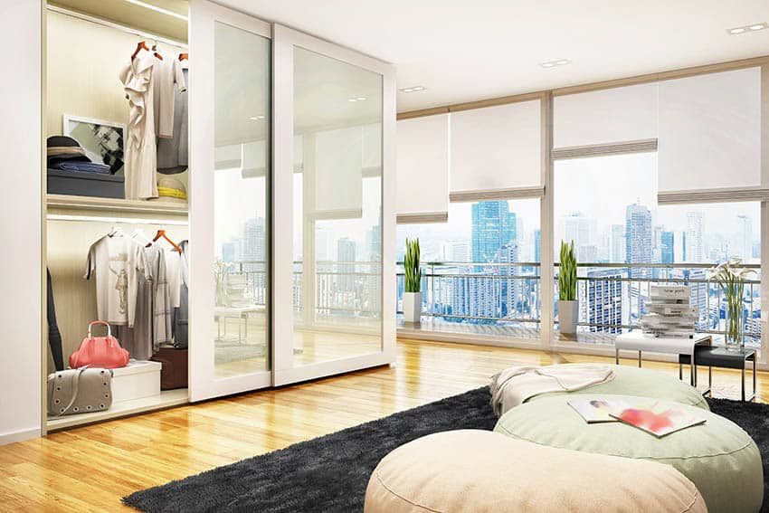 Modern master bedroom closet