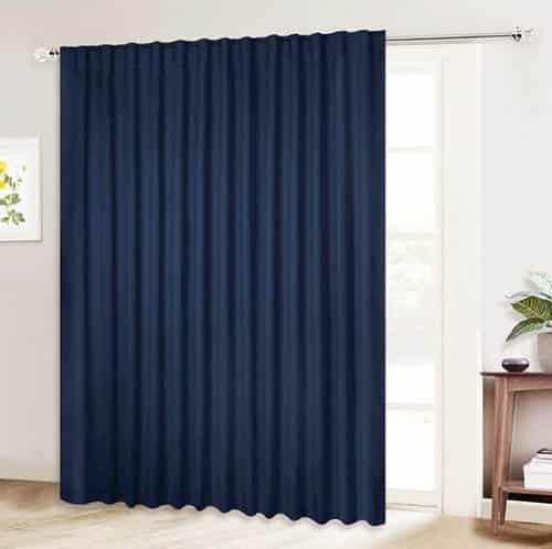 Soundproof door curtain above french doors