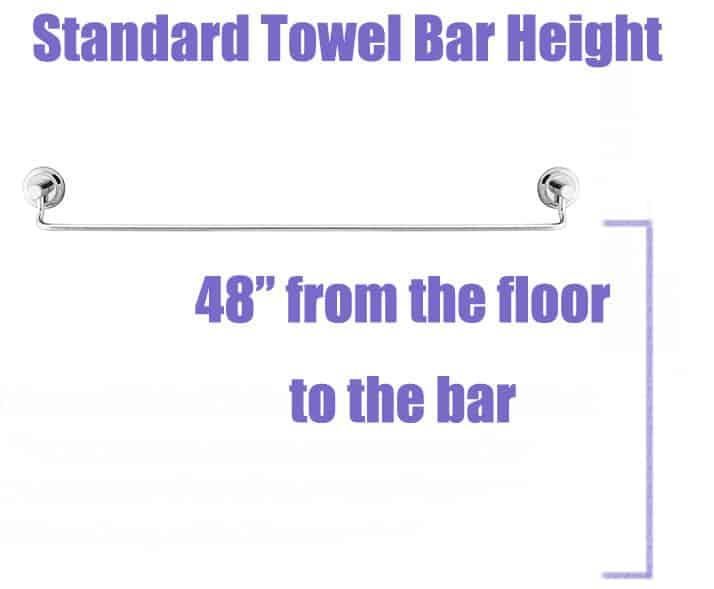 Standard Towel Bar Height Bathroom Design Guide Designing Idea