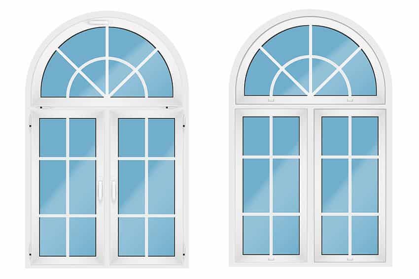 Arched transom windows