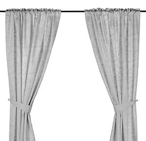 Curtains with rod pocket