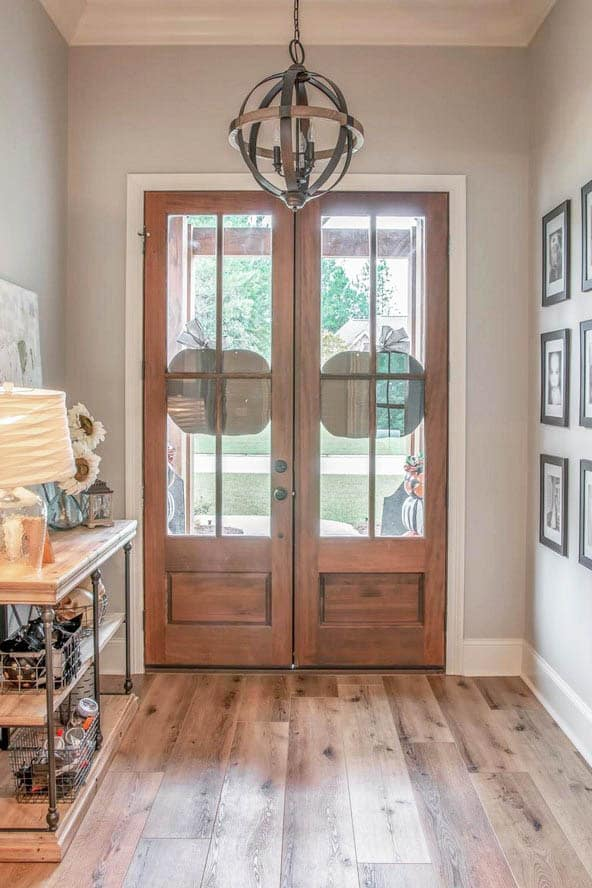 Double door entry french house plan