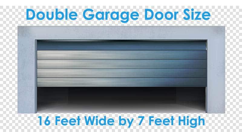 Double garage door size