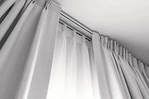 Pinched pleat curtains