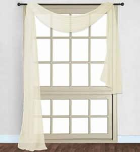 Sheer window scarf curtain