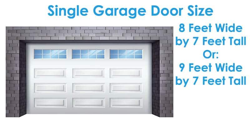 Single garage door size
