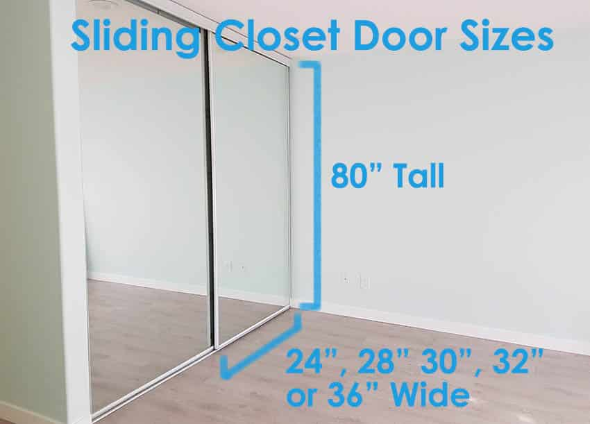 Sliding closet door sizes