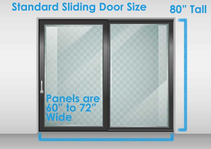 Standard sliding doors size