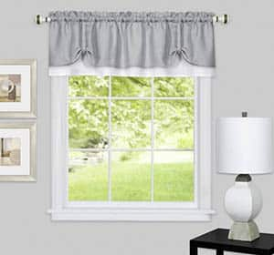 Window with valance curtain
