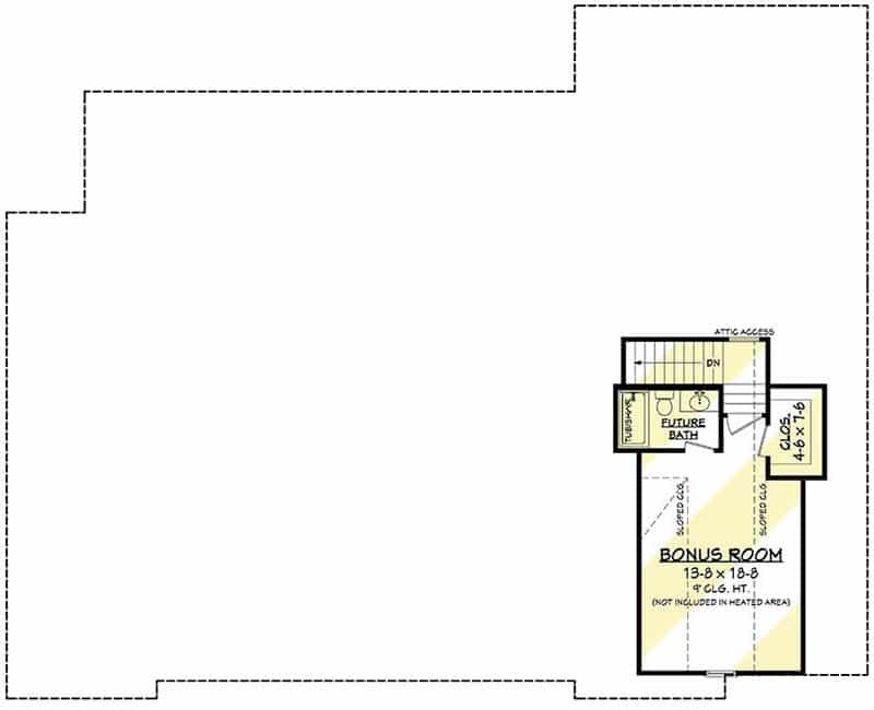 2 story bonus room