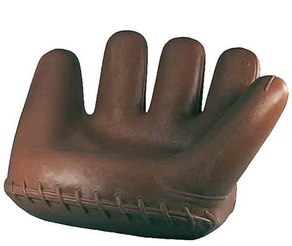 Baseball glove sofa