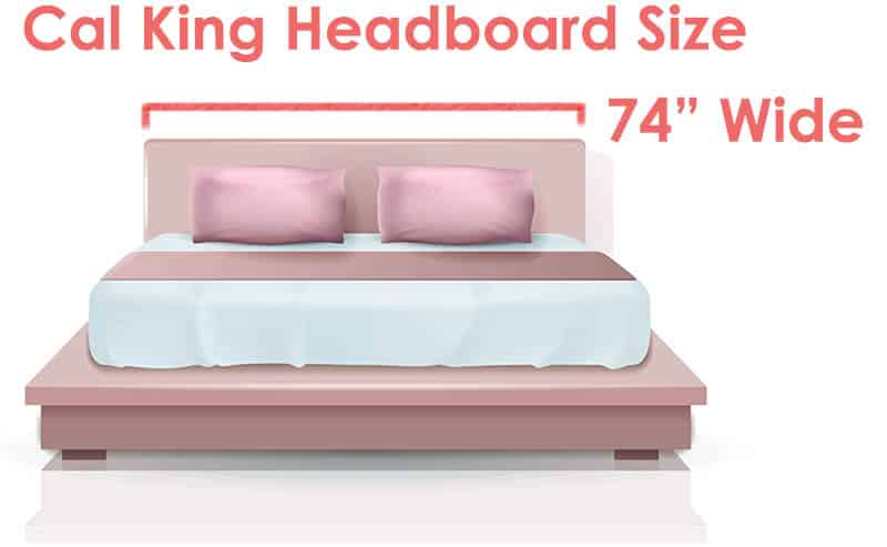 Cal king bed headboard size