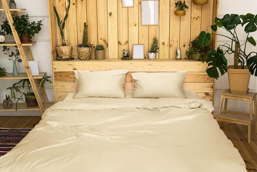 Diy wood bed headboard with shelf