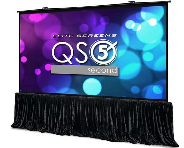 Elite screens quickstand 5 projector screen