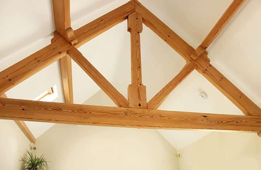 Exposed interior wood truss