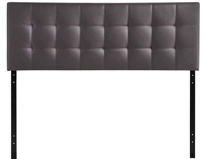 Freestanding headboard with faux leather