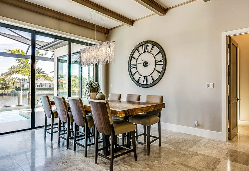 Industrial dining table wood and metal design