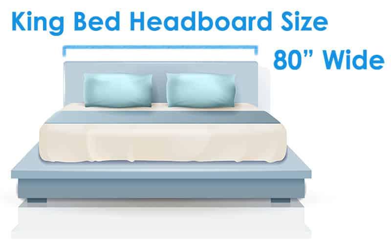 King bed headboard size