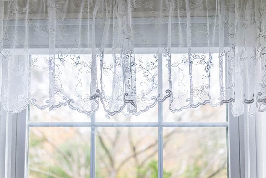 Lace curtain valance