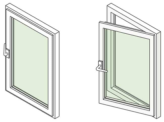 Opening and closing a casement window