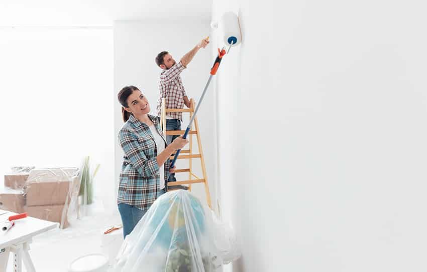 Painting wall white