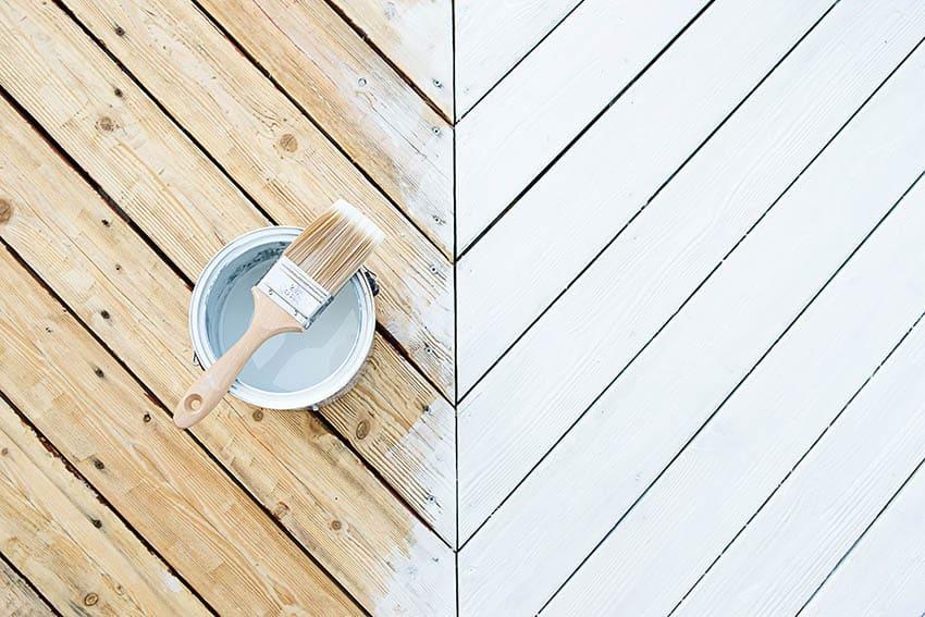 Painting wood deck