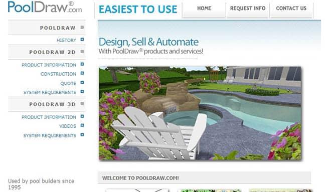 Pool draw design software