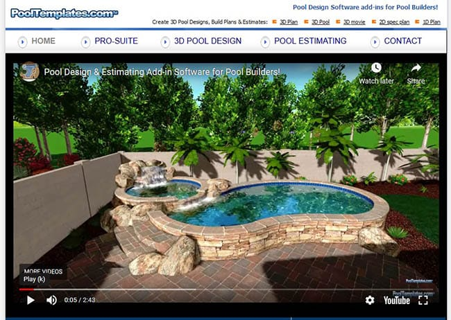 Pool templates design software