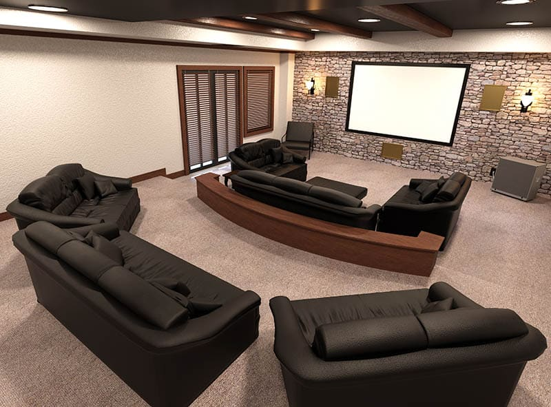 Projector screen movie room