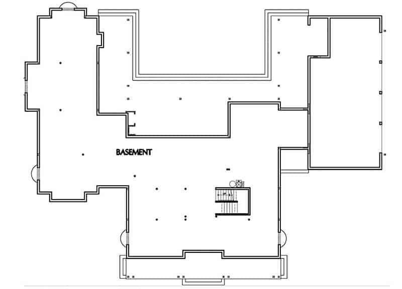 Shingle house basement floorplan