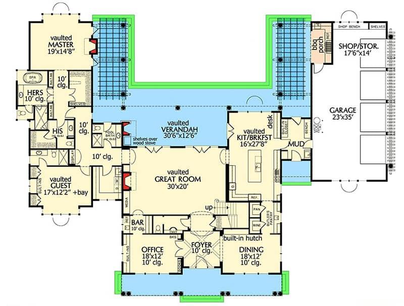 Shingle style house floorplan